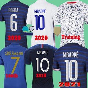 France 2020 jerseys 2021 camisas de futebol camisa de futebol maillot de homens de pé + crianças Kit de Treinamento 100 2018 Retro 1998