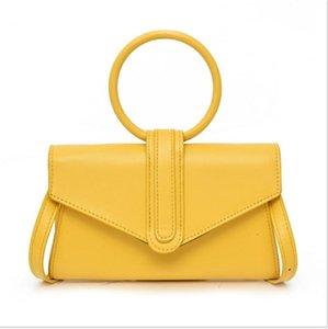 Women's PU Leather Crossbody Bag Solid Magnetic buckle Handbag Simple Shoulder Bag 2021