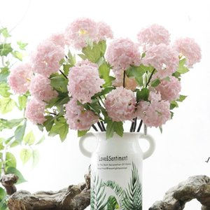 Fiori decorativi Fiori artificiali Hydrangea Ball Flower Bianco Snow Panall Flores Home Party Decor Decor di nozze Natale Decorazioni autunnali DWDD6155
