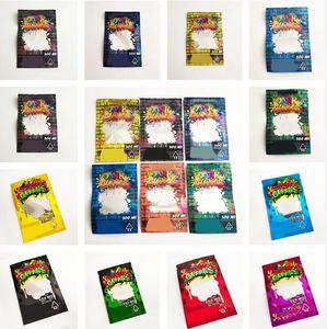 Whosale 6 أنواع Dank Gummies Mylar حقيبة 500mg Edibles التعبئة والتغليف قابلة للإغلاق سستة الحقيبة حزم أكياس