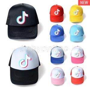 10 Colors Summer Mesh Ball Hat TikTok Logo Baseball Cap Designers Unisex Snapbacks Net Patchwork Ponytail Hats Sports Beach