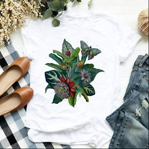 Women Lady T Shirt Butterfly Cute Beach Travel Clothing Floral Ladies Tee Womens Female Top Clothes Graphic
