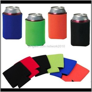 Other Kitchen Tools Wholesale Many Colors Blank Neoprene Foldable Stubby Holders Beer Cooler Bags For Wine Food Cans Cover Ppw1M 1Dqvo