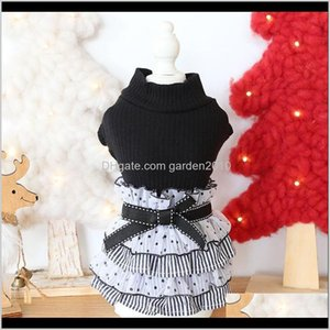 Apparel Supplies Home & Garden Drop Delivery 2021 Clothes Cake Bow Lace Cat Dog Dress Coat Jacket Clothing For Dogs Pet Winter Warm Products