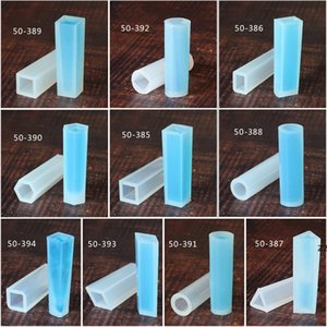Silicone Pendant Mould DIY Handmade Jewelry Mold Sliver Cylinder Trapezoid Crystalline Form Shaped Baking Moulds HWD10213