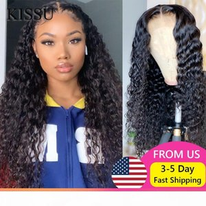Deep Wave Lace Front Wig Cheap Curly Human Hair Wig Brazilian Curly Lace Front Deep Wave long For Women