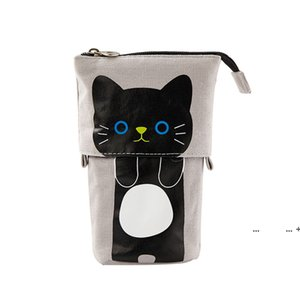 Cute Pencil Case Storage Standing Pen Holder Telescopic Makeup Pouch Pop Up Cosmetics Bag Stationery Office Organizer Box For FWD10330