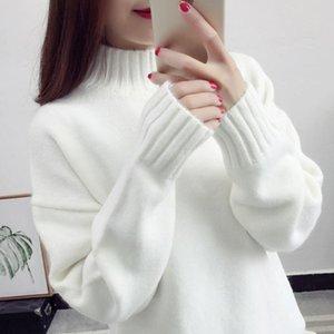 Женские свитеры 2021 осень WMET Pullovers зимних женщин свитер дамы с длинным рукавом вязаный топ Фимме тянуть узкие рубашки джемпер NS9101