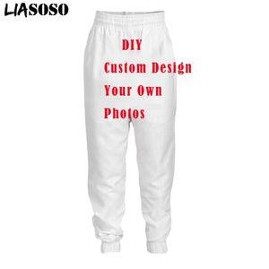 Customized DIY Your Like Po Logo Brand Sport Joggers Men's Pants 3d Print Mens Clothing Sports For Men Sweatpants Women