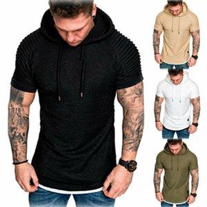 2021 Primavera Outono desgaste de moletom Mens Muscle Hoodie Tanque Ginásio Treino sem mangas T-shirt Bodybuilding Tops Hoodies