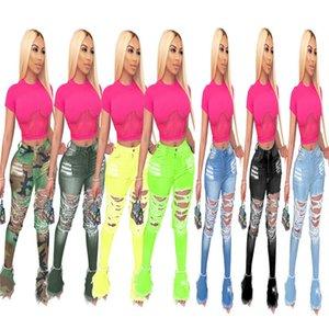 Plus size 3XL 4X Women blue bell-bottom strethy ripped holes jeans fashion flared Pants trendy black denim boot cut 3772