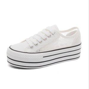 Zapatos de boda de encaje de país blanco Mujeres Hecho a mano Sneakers Bridal Plano Black Lienzo Plimsoll Sneaker
