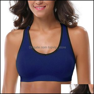 Gym Exercise Fitness Wear Athletic Outdoor Apparel & Outdoorsgym Clothing Women Racerback Sports Bras - High Impact Workout Activewear Bra D