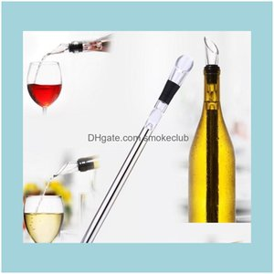 Ice Buckets And Barware Kitchen, Dining Bar Home & Gardenwine Chillers Stainless Steel Bottle Coolers Wine Chill Cool Stick Rod With Pourer
