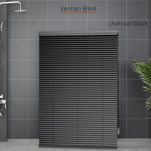 Blinds Smart Matters Black Horizontal Venetian Slat Light Filtering Darkening Perfect For Kitchen Bedroom Living Room Office And More