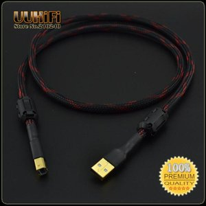 Audio Cables & Connectors U29-2 ( 1m 3.5ft ) HiFi A-B USB Cable   Canare L-4E6S Audio-cable W  Dual Magnetic Ring For DAC