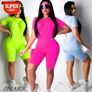 Pantsuit Womens 2Pcs Short Sleeve Tops Pants Summer Casual Tracksuit Lounge Wear Jumpsuit Party #g30d