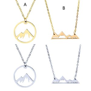 Women Mountain Necklace Range Jewelry Nature Hiker Climbing Lover Gifts Minimalist Pendant Necklaces