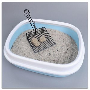 Three Color Cat Litter Spoon Stainless Steel Metal Stool Pet Garbage Sand Shovel Excrement Artifact Dog Cle Grooming
