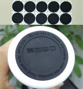 Bello inferiore in gomma per 15oz 20oz 30oz Skinny Tumbler Black Coaster Sticker Sticker Sottobicchieri Adesivo Adesivo in gomma fondo Nero Cover protettivo Cover protettivo