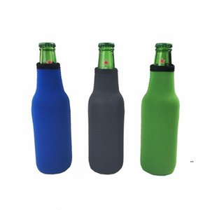 Beer Bottle Sleeve Neoprene Insulation Bags Holder Zipper Soft Drinks Covers With Stitched Fabric Edges Bareware Tool EWD9119