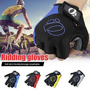 Cycling Gloves 1Pair Half Finger -Slip -Sweat Gel Bicycle Riding MTB Road Mountain Bike Sports