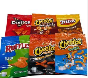 600mg Cheetos Mylar bag DORITOS Cheese Gummi Worm bags of BONE RUFFLES edibles Flamin hot Gummy Packaging baggies