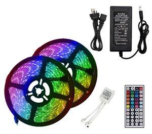 30 Leds  m SMD5050 RGB Led Strips Light Remote Controller 44keys IP20 IP65 12V Holiday Lighting