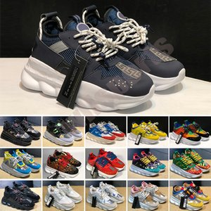 Originals chain reaction shock casual shoes fashion men women outdoor classic old dad leisure shoe link-embossed trainer flair walking pantshoes 36-45