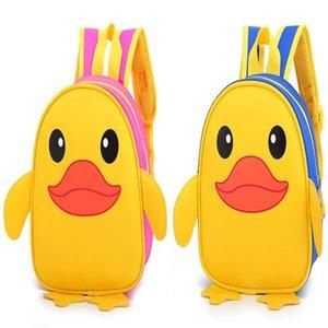 Baby children backpack kindergarten cartoon duck kid's girls&boys cute bag wholesale 008