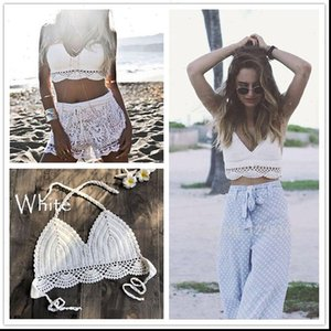 Bikini Womens Tank Bañado Traje Top Knit Crochet Mujeres Verano Tops Casuales Red Tamed Hollow Out Out Backless Halter Culty Sexy