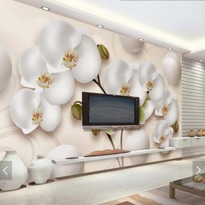Wallpapers 3D Moth Orchid Flower Wallpaper Mural For Living Room Wall Art Decor Roll Floral Decals Custom Size