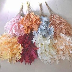 Croissant Coral Simulation Nouveau Mariage 3-Fork Hall Decoration Decoration Plafond Silk Road Guide de la scie Fleur