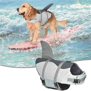 Dog Life Jacket Lifesaver Vest Shark Mermaid Swimsuit Safety Clothing Pet Supplies Vests For Swimming Pool Beach Boating 210908