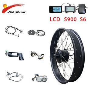 "Electric Bicycle 48V 1000W 20""26"" Ebike Motor Kit Hub Wheel Rear Bike Conversion Bicicleta Electrica"