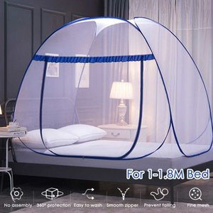 Folding Mosquito Net Canopy Bracket for Adult Kids Room Decoration Tent Curtain With Frame Home Bed 195 200cm