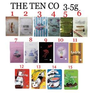 Las diez bolsas con cremallera de aluminio de Mylar Highlock Stand Up Bolsas al por mayor Benj Sweet's English Tea Tenscotti Pink Sandy Fing China Skilatti Zushi 3.5g Paquetes