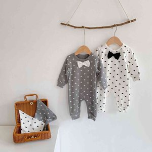2021 Ins Fashion New Spring Girls Bodysuits Infant Jumpsuits Baby 0-3 Years Long Sleeve Rompers