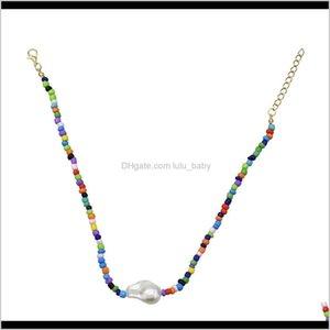 Necklaces Beaded Fashion Colorful Boho Beads Jade Daily Elegant Ladies Necklace Zrocz Gb2Ad