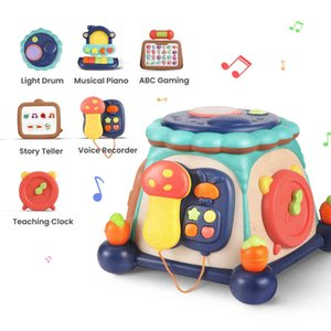 Tumama Multifunctional Kids Educational Toy Musical Baby Learning Six Sid Puzzle Music Box