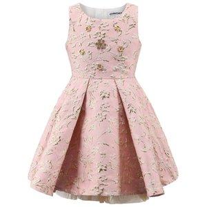 Childdkivy Girls Party Kleid Kinder Prinzessin Kleid Kleidung Ballkleid Sleeveless Kinder Abendkleider Für Mädchen 3-10 Jahre 210331