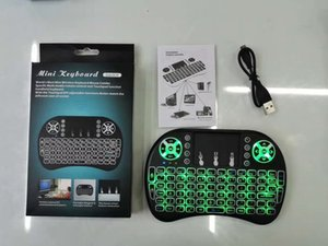 Mini i8 Wireless Keyboard Backlight Backlit 2.4G Air Mouse Keyboard Remote Control Touchpad Rechargeable lithium battery for Android TV Box