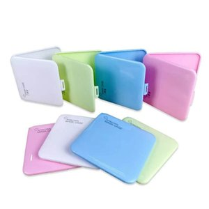Portable Plastic Face Mask Case Storage Boxes Travel Mini Masks Square Box Pollution Prevention Maschera Accessories