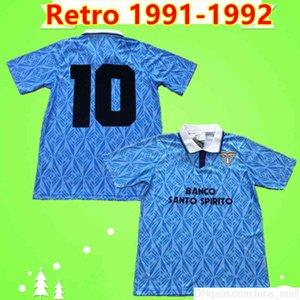 Maglia da calcio Sosa Riedle Doll Stroppa Sergio 1991 1992 classic Lazio soccer jersey 91 92 Vintage football shirt uniform home blue Italy