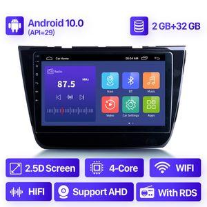 10.1 pulgadas Android 10.0 2 + 32G Car DVD Radio GPS QLED para 2017 2018 2018 2019 2020 Mg-ZS Sistema de navegación Soporte Carplay DAB +