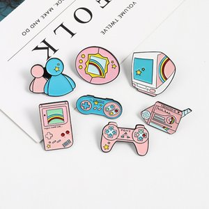 Pink Cartoon Recreational Machines Brooches Pins Cute Originality Television Remote Control Brooch Jackets Shirt Bag Lapel Pin Jewelry Gift 2 23bl T2