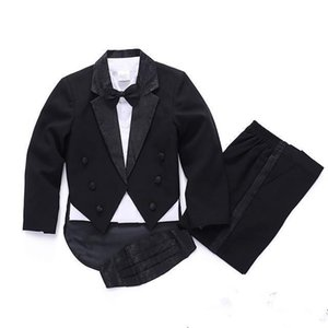 Suits Autumn And Winter Baby Boy Clothes Wedding For Suit Party Baptism Christmas 0-10T Wear White black 5-Piece