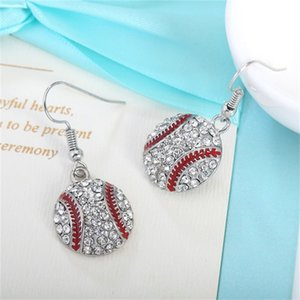 Crystal Baseball Pendant Earrings Necklace Jewelry Sets Fashion Sports Jewelry Best Friend Gift For Team Club Base Ball Lovers 1096 Q2