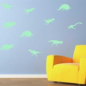 in Glow 9pcs the Dark Dinosaur Luminous Stereo 3d Fluorescent Stickers Funny Sticker Stars for Kids Licb