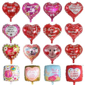 Party Supplies Happy Mothers Day Balloons 18 inch Foil Love Shaped Mother Days Balloon English Spanish Mylar Helium